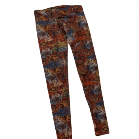 Onzie Multicolor Snake Skin Leggings XS